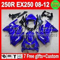 On sale+7gifts Factory blue For KAWASAKI Ninja ZX 250R EX250 08-12 ZX250R EX 250 08 09 10 11 12 2008 2009 2010 2011 2012 Fairing