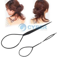 New 2pcs Topsy Tail Hair Braid Ponytail Hair Maker Styling Tool Free Shipping