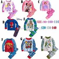 2014 new baby pyjamas boy girl cartoon clothes set kids cotton t shirt + pants 6pcs/lot children's clothing set casual suit wear