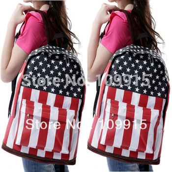 New Canvas USA American Flag Punk BackPack Shoulder Bag Handbag Duffle School(SP0174MG)