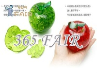 Free shipping 3D crystal apple puzzle toy flash gift education item