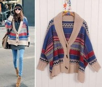 2013 women's sweater loose batwing shirt cape cardigan sweater