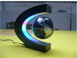 LED Electronic LED Light Wireless Power Magnetic Levitation Floating World Map 3 inch Antigravity Globe Magic Gift(China (Mainland))