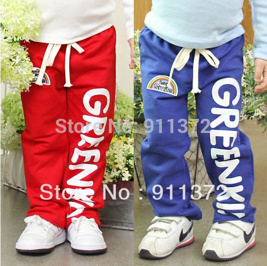 Брюки для девочек children's recreational sports trousers, 100% cotton afford color! Boys and girls pants .! Star praise