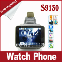 Free Shipping!!! S9130 1.8 inch Touch Screen Quad Band Moblie Phone Watch with Camera + Bluetooth