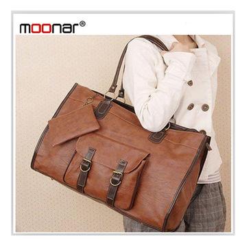 Brand New PU Leather Grid Purse Tote Handbag Shoulders Bag messenger bag for Ladies LB076