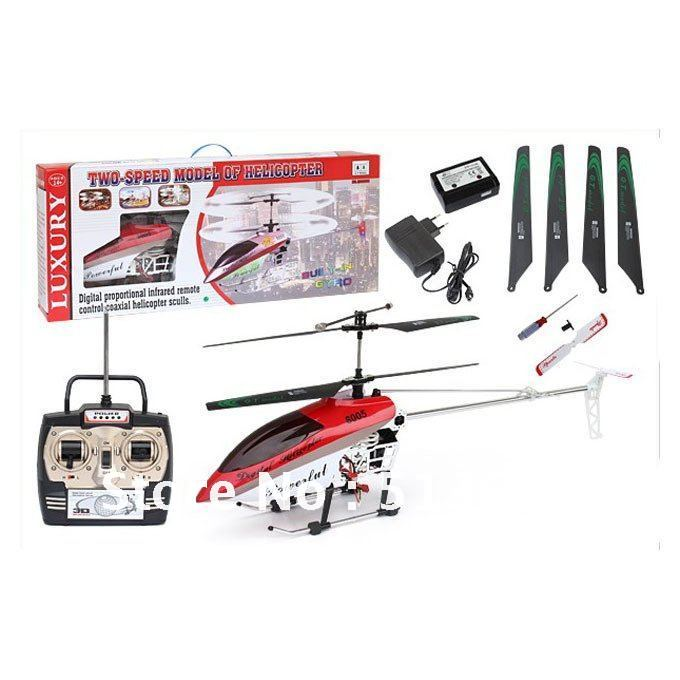 Hot Sell EMS FREE SHIPPING Large 105cm Built-in GYRO 3.5 Channel Alloy Metal Frame RC Hobby Helicopter RC Toys BR020849(China (Mainland))