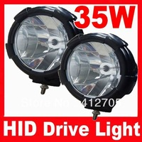 2pcs/lot Free Shipping 7 inch 12V 55W HOT Promotion New 35W HID offroad light hid driving light wide flood beamfor SUV