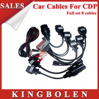 2014 Hottest Professional TCS Diagnostic Full Set 8pcs TCS Car Cables OBD/OBDII Diagnostic Connector For Multi-Brand Cars
