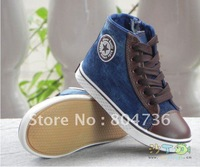 Free shipping ~ wholesale children shoes breathable sports water wash denim child canvas shoes kids shoes EUR25-36