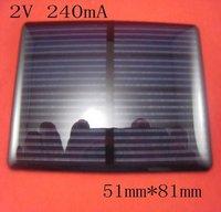 2V 240mA MONOCRYSTALLINE Mini Solar Power Cell PCB Panel Charge Battery 4 LED