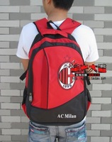 AC MILAN CLUB BACKPACK SPORT BAG  FOOTBALL BAG  RED COLOR COMPUTER BAG HIGH QUALITY
