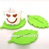 20 PCS/LOT  creative felt cloth cute bear coaster insulation home leaf coaster  wholesale cup mats