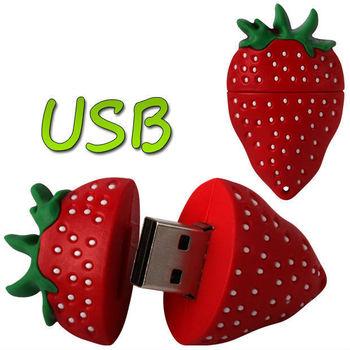 strawberry Model USB Memory Stick Flash Pen Drive 2GB 4GB 8GB 16GB 32GB LU014