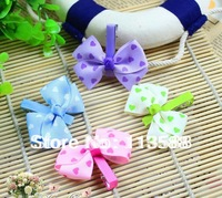 110pcs/lot  Free shipping HA0055 children 4colors love heart  hairpin for girl