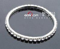 NEW  Free Shipping Wholesale lots 48pcs crystal Brand fashion single row can be stretched bracelet  fashion bracelet BG114747