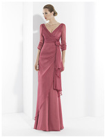 Free Shipping A Line V Neck Floor Length Mother of the Bride Dresses