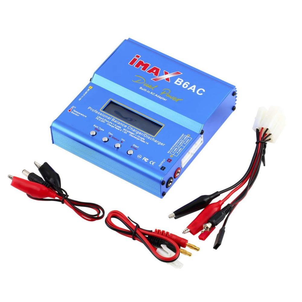 New iMAX B6 AC B6AC Lipo NiMH 3S/4S/5S RC Battery Balance Charger + EU/US/UK/AU plug power supply wire free shipping(China (Mainland))