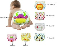 Free Shipping Newest Design 3pcs/lot water proof Embroidered Baby Training Pants