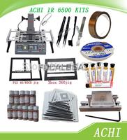 Free Shipping Full Set ACHI IR6500/IR-6500 ACHI 6500 Infrared BGA Rework Station+Heat Direct BGA Stencils+BGA Tool Set/tool kit