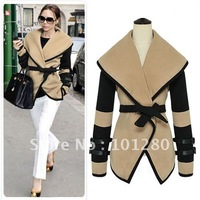 Free shipping 2014 new british style victoria personalized fashion wool coat women elegant wool jacket  overcoat PLUS SIZE F6