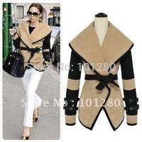 Free shipping 2014 new british style victoria personalized fashion wool coat women elegant wool jacket  overcoat pluz size T148