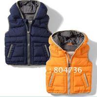 Free Shipping Boys' Split Joint Cotton Waistcoat/Children's Vest/Boys' Zipper Waistcoat Wholesale/Baby vest/Baby Winter Vest