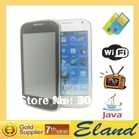 New arrive Cheap phones i9300 dual sim card phone 4.0 inch touch screen WIFI TV FM JAVA Support Multi langauges