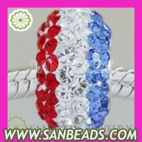 Free Shipping, 10pcs/lot Wholesale Austrian Crystal Beads Fit For European Charms
