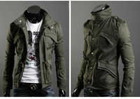 New 2014 Spring Autumn Men's Clothing  Slim Male Casual Outerwear Fashion Men's Jaket/Suit+ Free Shipping