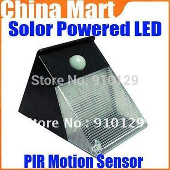 PIR Motion Sensor Solar Powered LED Garden Wall Light Landscape Lamp