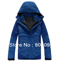 High Quality Men's Outdoor Double Layer 2in1 Waterproof  Outdoor Jacket Climbing Jackets Windbreaker