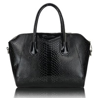 2012 New Arrial Ladies black snake handbags Women tote bags/Party Bag/Hand-take Purse BB823