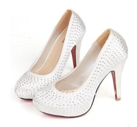 Fashion new wedding shoes, diamond women's high-heeled dress shoes  2012 hot bridal shoes free shipping