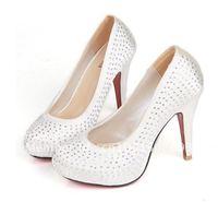 Fashion new wedding shoes, diamond women's high-heeled dress shoes  2012 hot bridal shoes free shipping