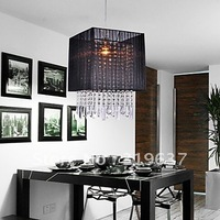 Free Shipping Stylish Pendant Light with Black Fabric Shade