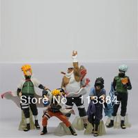 5pcs/set Naruto figures Japan Anime Toys NEW Sakura Kakashi Sasuke Gaara Kabuto