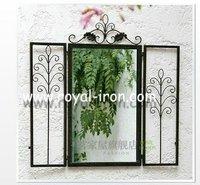 Free shipping,wrought iron mirror,anti-rust,radiation protection,longevity,new style,metal&foldable