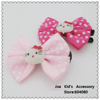 Fashion Girls Hair Clips With Hello Kitty Pattern,Baby Hairpins,Baby Hair Accessories,Free shipping