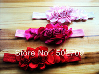 Free shipping! 10pcs/lot big flower fashion hair accessories baby headband