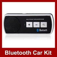 New Wireless Bluetooth Handsfree Speakerphone Car Kit With Car Charger Bluetooth Car Kit Free Shipping
