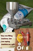 YF 100 automatic double nozzles liquid paste filling machine for cream shampoo  speed  0-40bottles per minute