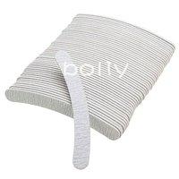 10pcs Gray Nail Art Tips Crescent Sanding Grit Sandpaper File Buffer Buffing   +1 pcs nail lace stickers free