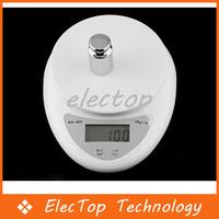 Free shipping Digital Electronic Kitchen Food Scale 1g-5kg 5000g 100pcs/lot Wholesale