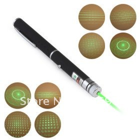 5 in 1(5 Patterns Green Laser Cap) 50mw 532nm Astronomy Powerful Green Laser Pointer+Gift Box+Freeshipping+2pcs/lot(China (Mainland))