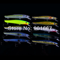 New arrival!!!!! 9.5CM/9.8G Minnow fishing hard bait,plastic fishing lures,fishing tackle,40pcs/lot, Free Shipping