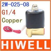 Solenoid valve, electromagnetic valve,.2w-025-08,Interface:G1/4,Suitable medium: water, air, oil,DC12-24V,AC110V-220V.