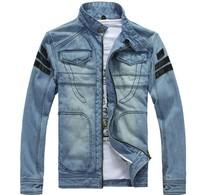 Men's Hoodie Jacket coat outerwear hooded Winter coat hoodie denim jacket coat cowboy jacket