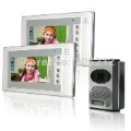 hot selling 7'' luxury color wired video door phone 1 to 2  that can adjust camera angle, night vision