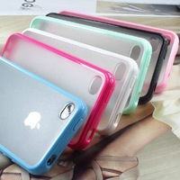 TPU+PC Case For Iphone 4 4S,TPU Back Case Skin Cover For Iphone 4 4S Colorful 50pcs/Lot Free Shipping With Packing Bag